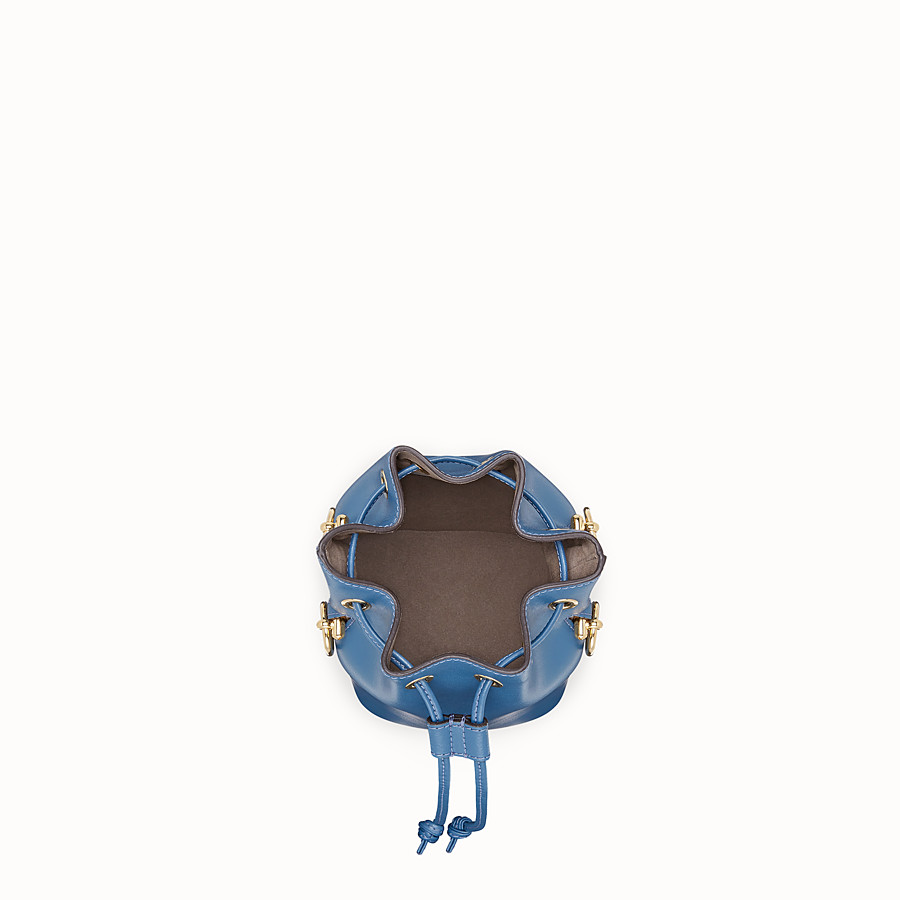 FENDI MON TRESOR - Mini-Tasche aus Leder in Blau - view 4 detail