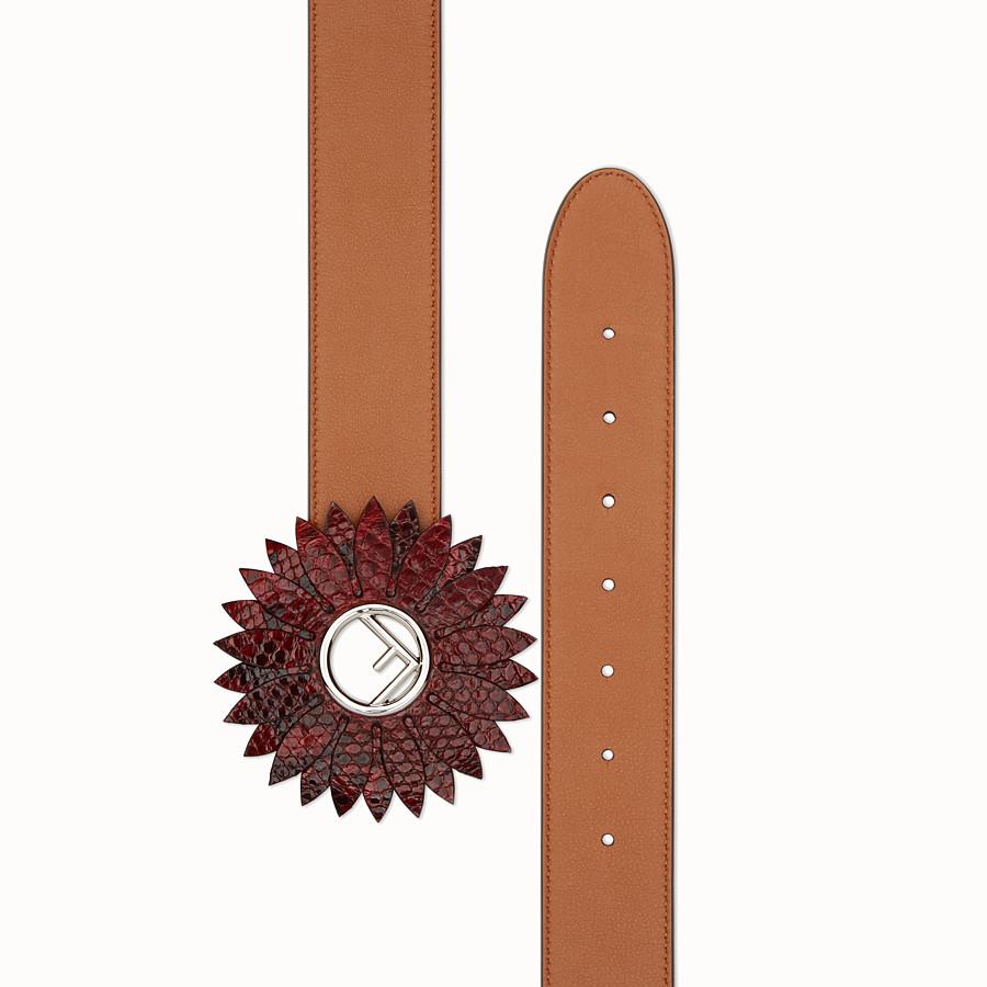FENDI DAISY BELT - Natural-colour leather belt - view 2 detail