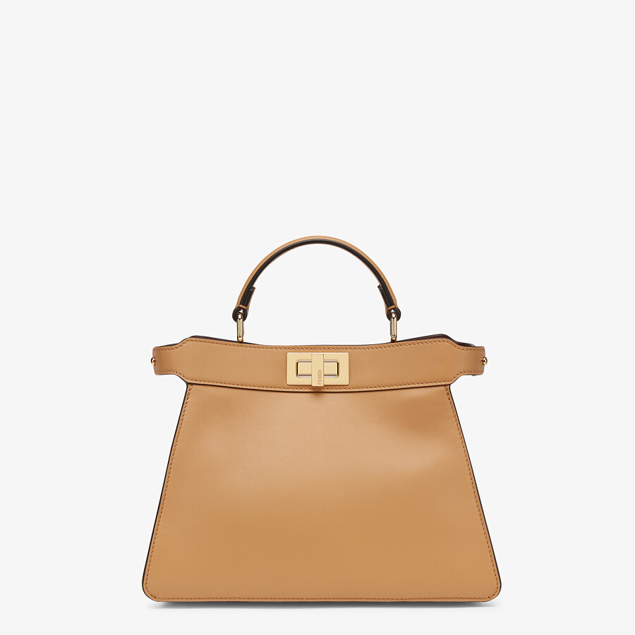 FENDI PEEKABOO ISEEU SMALL - Beige leather bag - view 1 detail