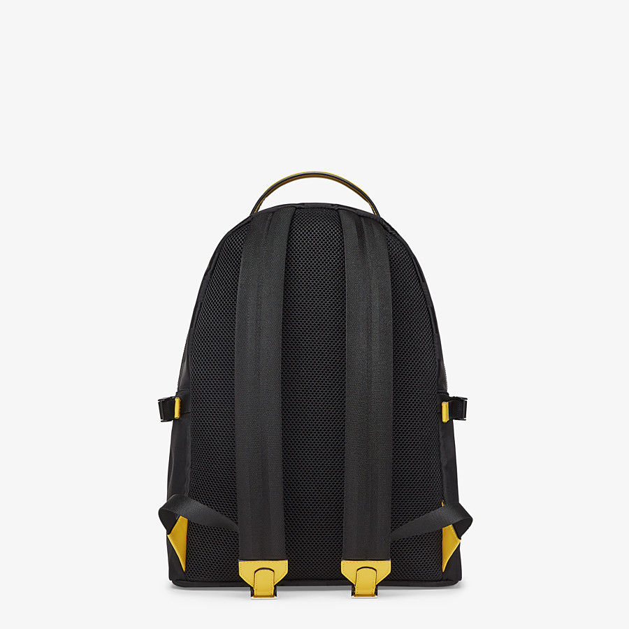 FENDI ESSENTIAL BACKPACK - Black nylon backpack - view 3 detail