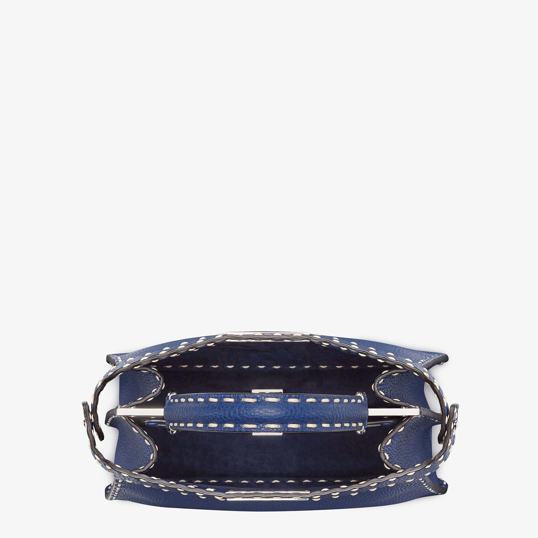 FENDI PEEKABOO ISEEU MEDIUM - Blue full grain leather bag - view 6 detail