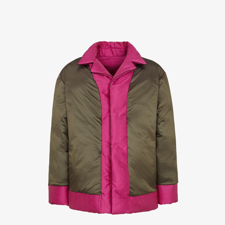 FENDI JACKET - Fuchsia silk jacket - view 4 detail