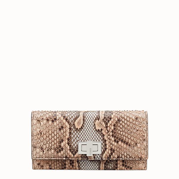 FENDI CONTINENTAL - Beige python skin wallet - view 1 small thumbnail