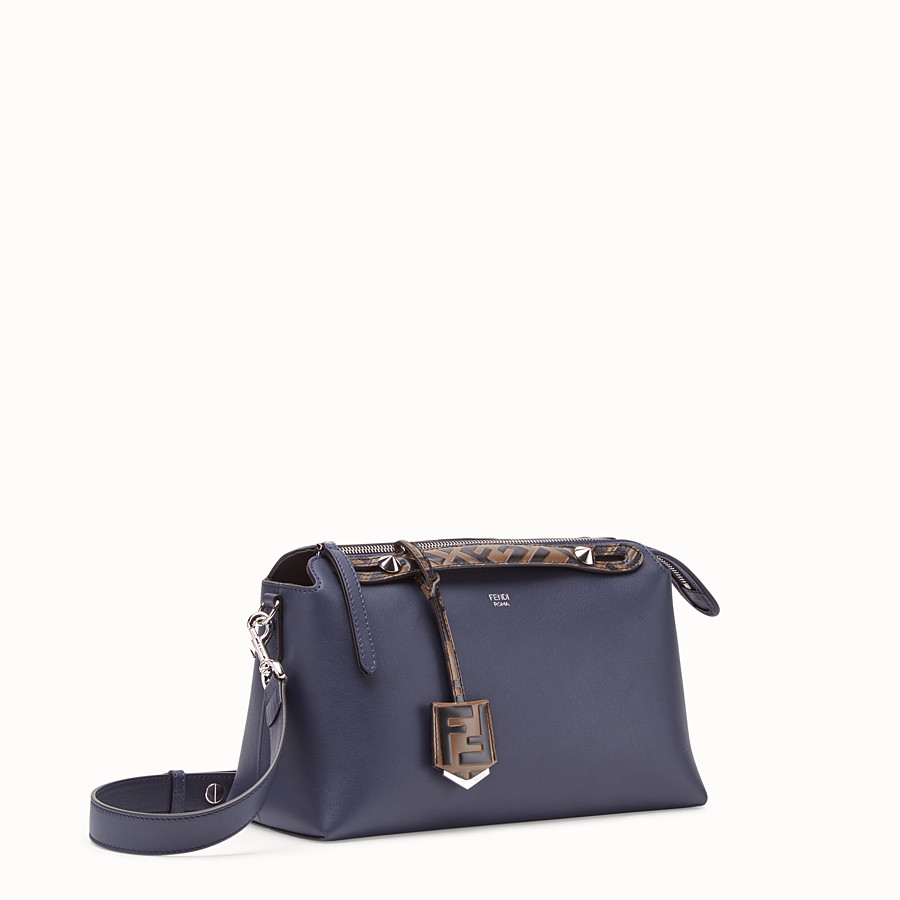 FENDI BY THE WAY MEDIUM - Blue leather Boston bag - view 3 detail