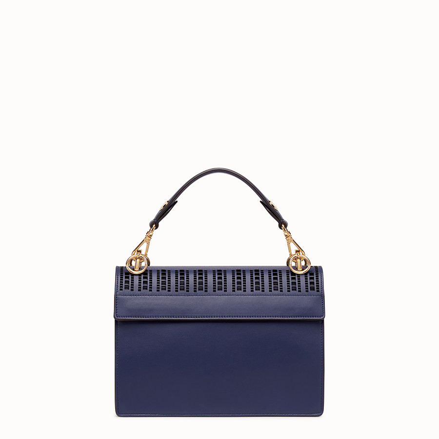 FENDI KAN I - Blue leather bag - view 4 detail