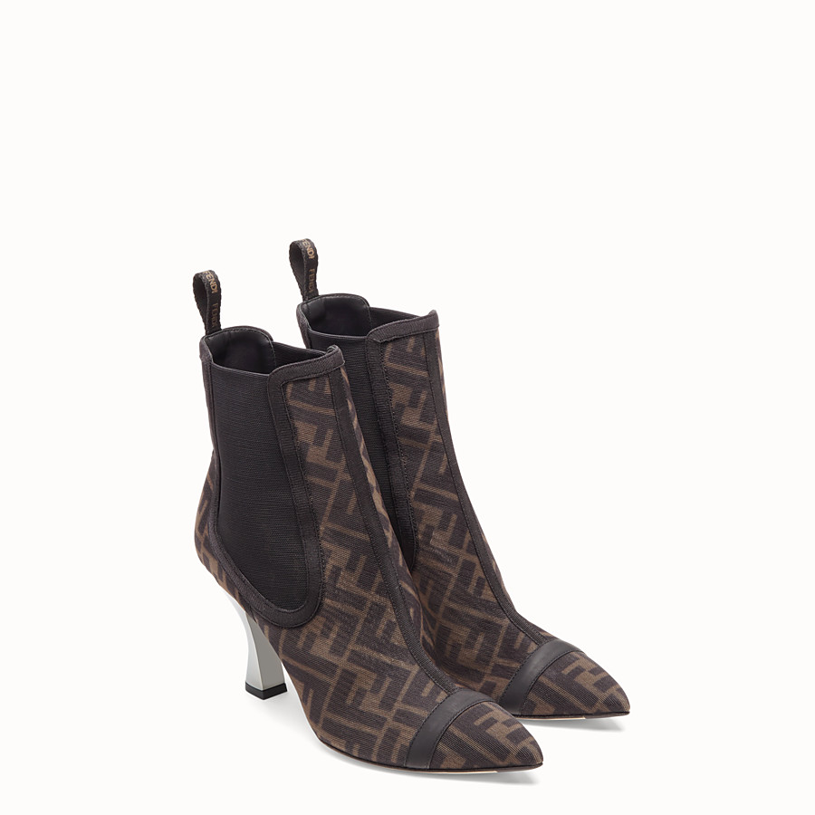 FENDI BOOTS - Colibrì in black mesh - view 4 detail