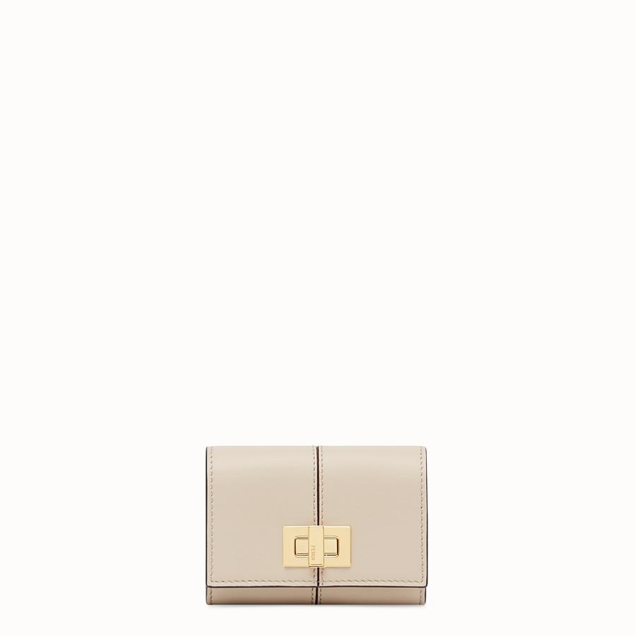 FENDI PORTACARTE - Porta carte in pelle beige - vista 1 dettaglio