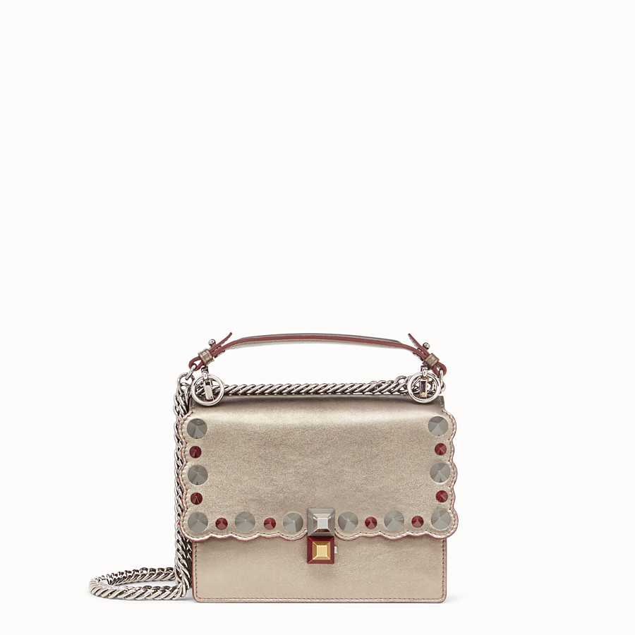 FENDI KAN I SMALL - Bronze-coloured leather mini bag - view 1 detail