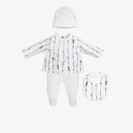 FENDI BABY KIT - Poplin and jersey printed Baby Kit - view 1 thumbnail
