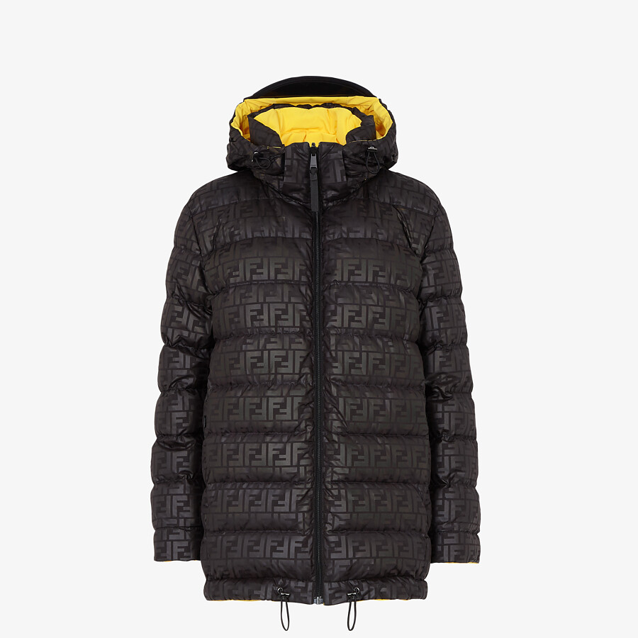 FENDI SKI JACKET - Ski jacket in yellow tech nylon - view 4 detail