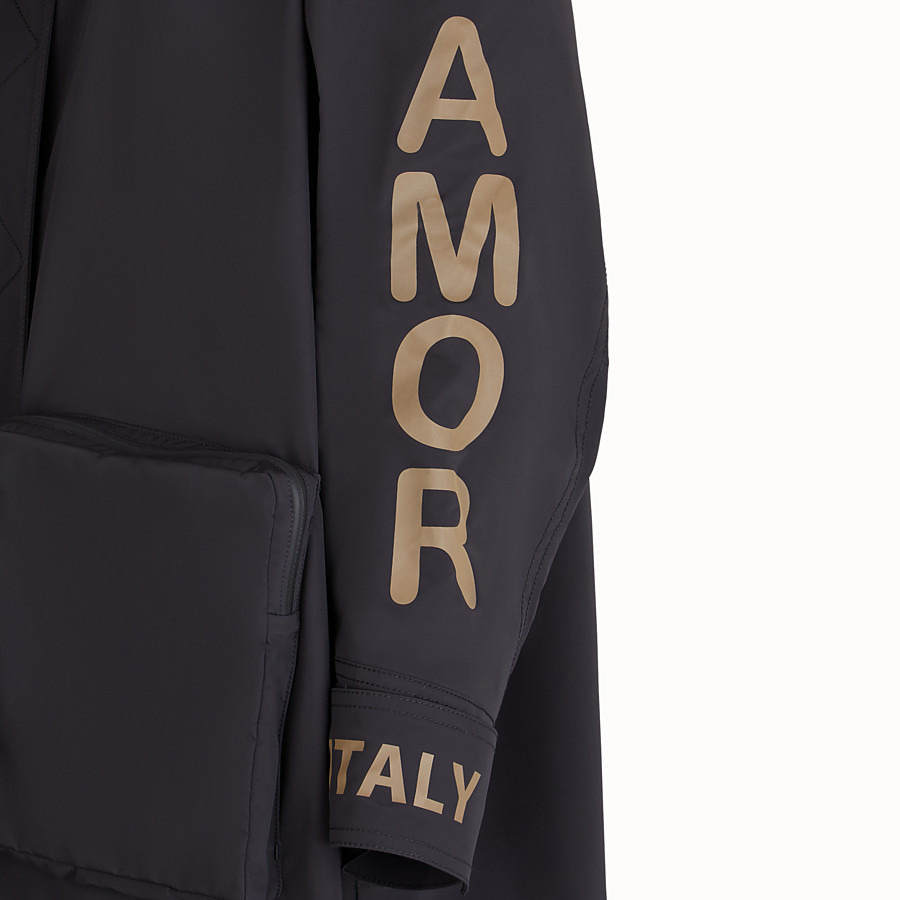 FENDI JACKET - Fendi Roma Amor tech fabric parka - view 3 detail