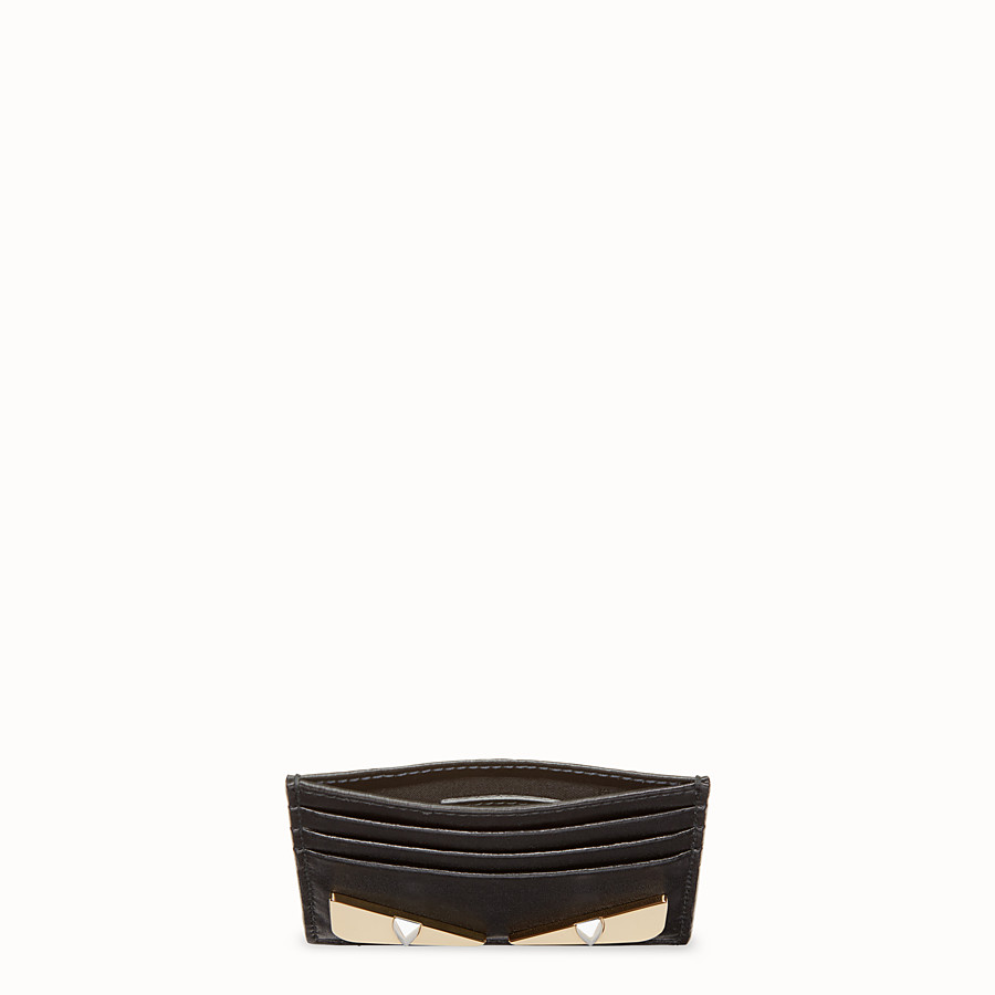 FENDI CARD HOLDER - Black leather flat card holder - view 4 detail