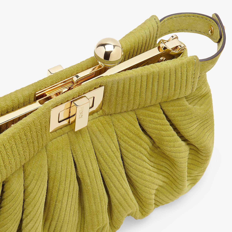 FENDI PEEKABOO CLICK - Small green suede bag. - view 6 detail