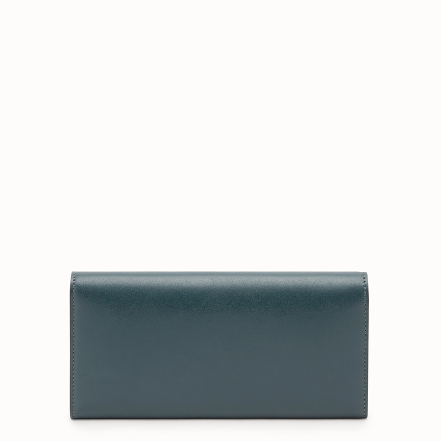 FENDI CONTINENTAL WITH CHAIN - Green leather wallet - view 3 detail