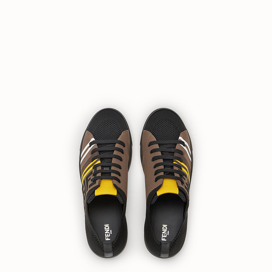 FENDI SNEAKERS - Black tech fabric low tops - view 4 detail