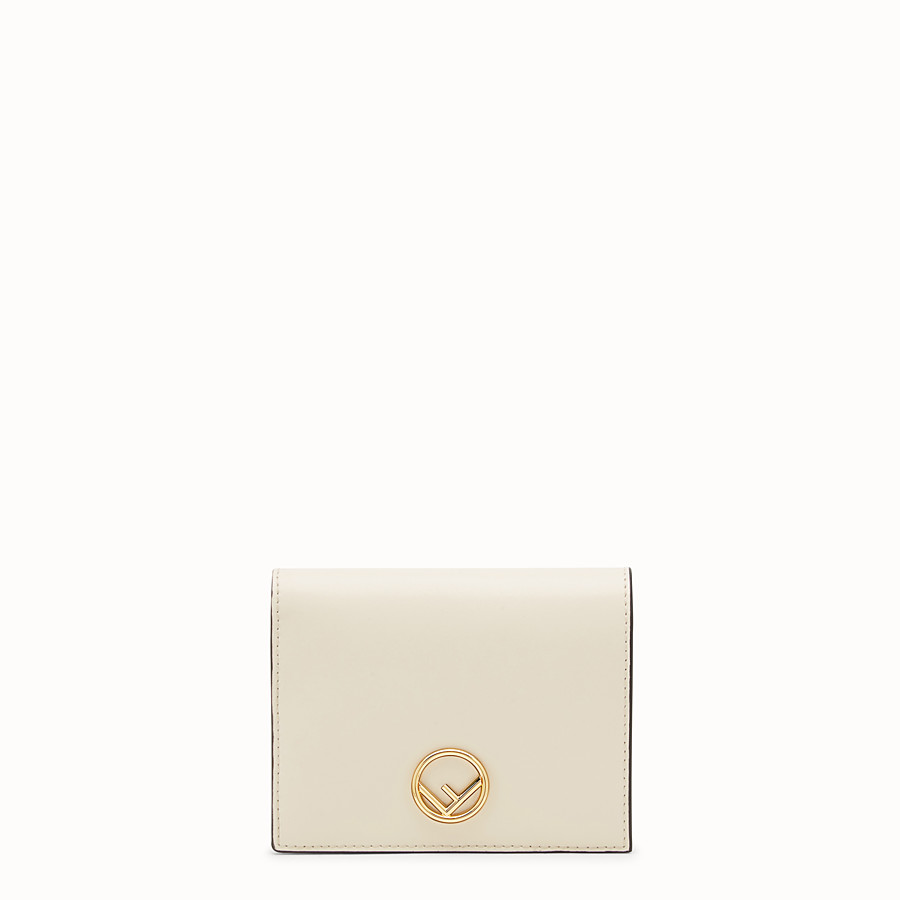 FENDI BIFOLD - White leather compact wallet - view 1 detail