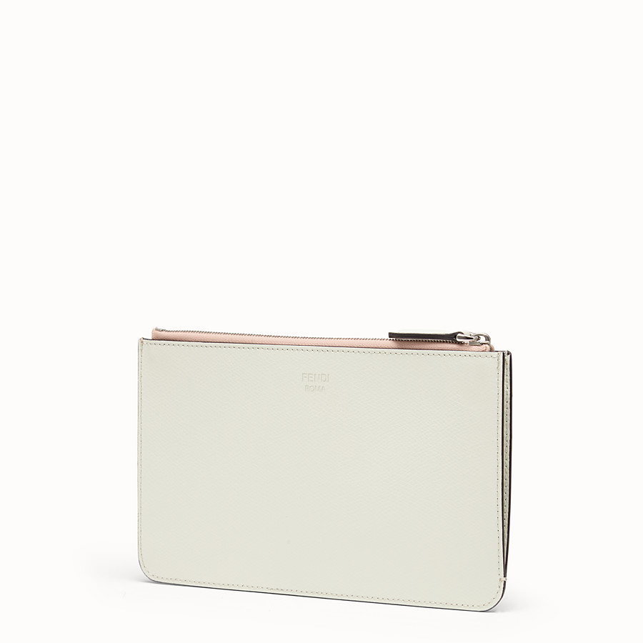 FENDI FLAT CLUTCH - Multicolour leather pochette - view 2 detail