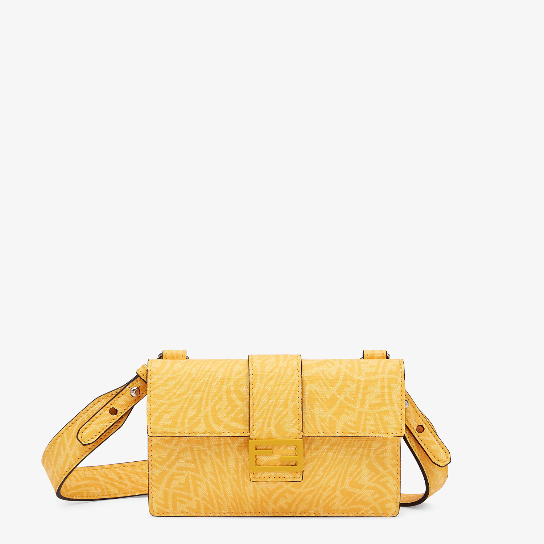 FENDI BAGUETTE POUCH - Yellow fabric bag - view 1 detail