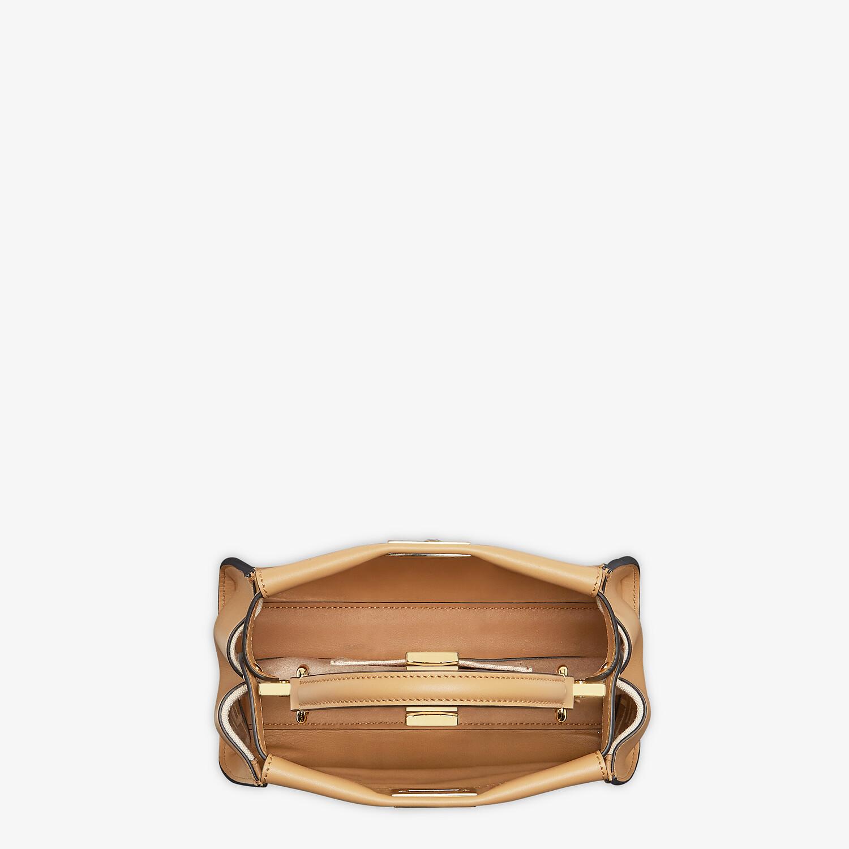 FENDI PEEKABOO MINI - Beige leather bag - view 4 detail