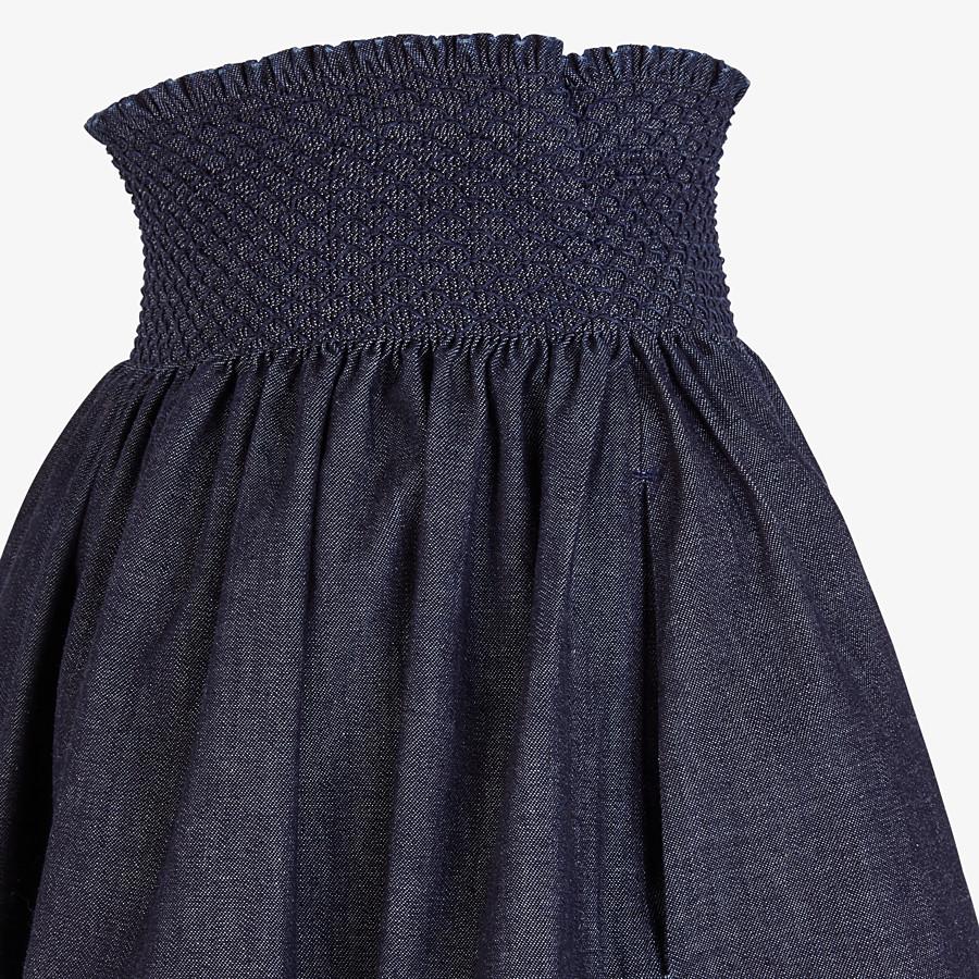 FENDI SKIRT - Blue chambray skirt - view 3 detail