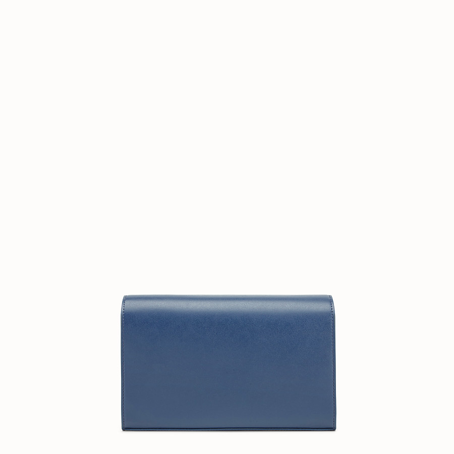 FENDI WALLET ON CHAIN - Dark blue leather mini-bag - view 3 detail
