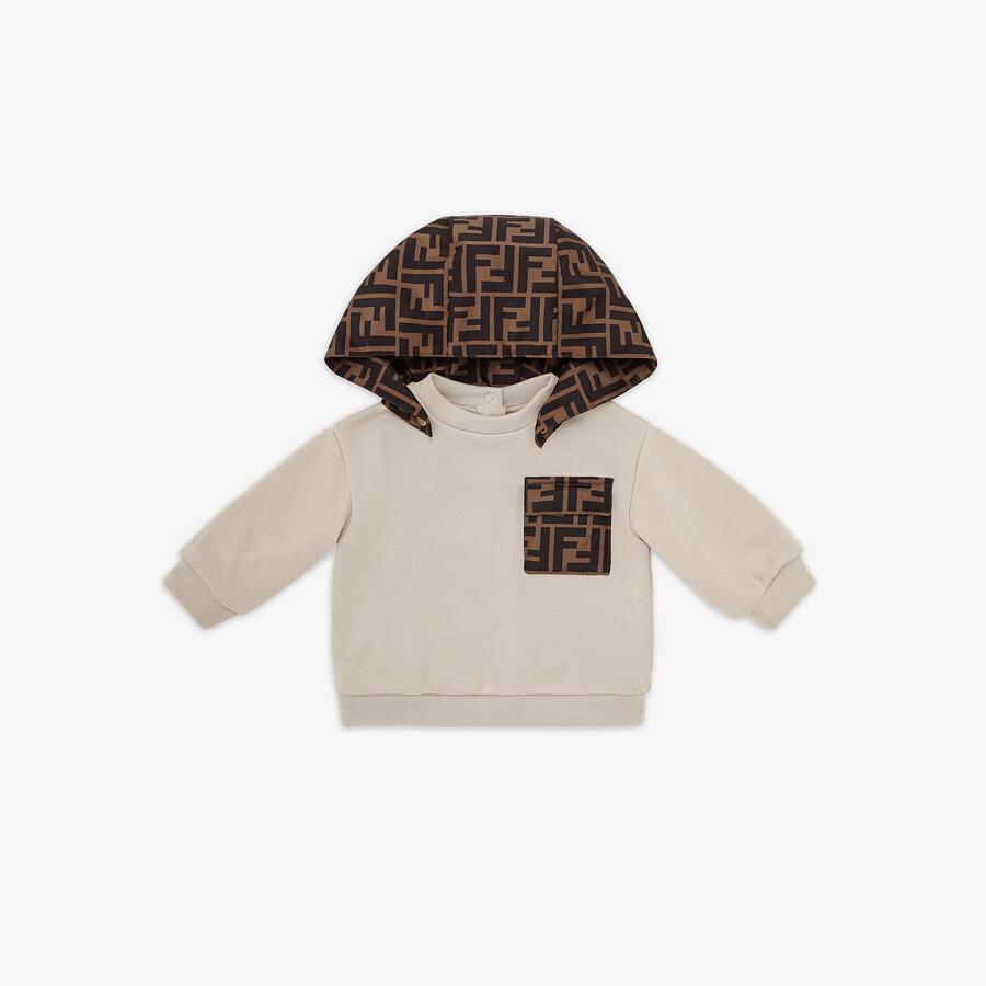 FENDI BABY SWEATSHIRT - Jersey and nylon baby sweatshirt - view 1 detail