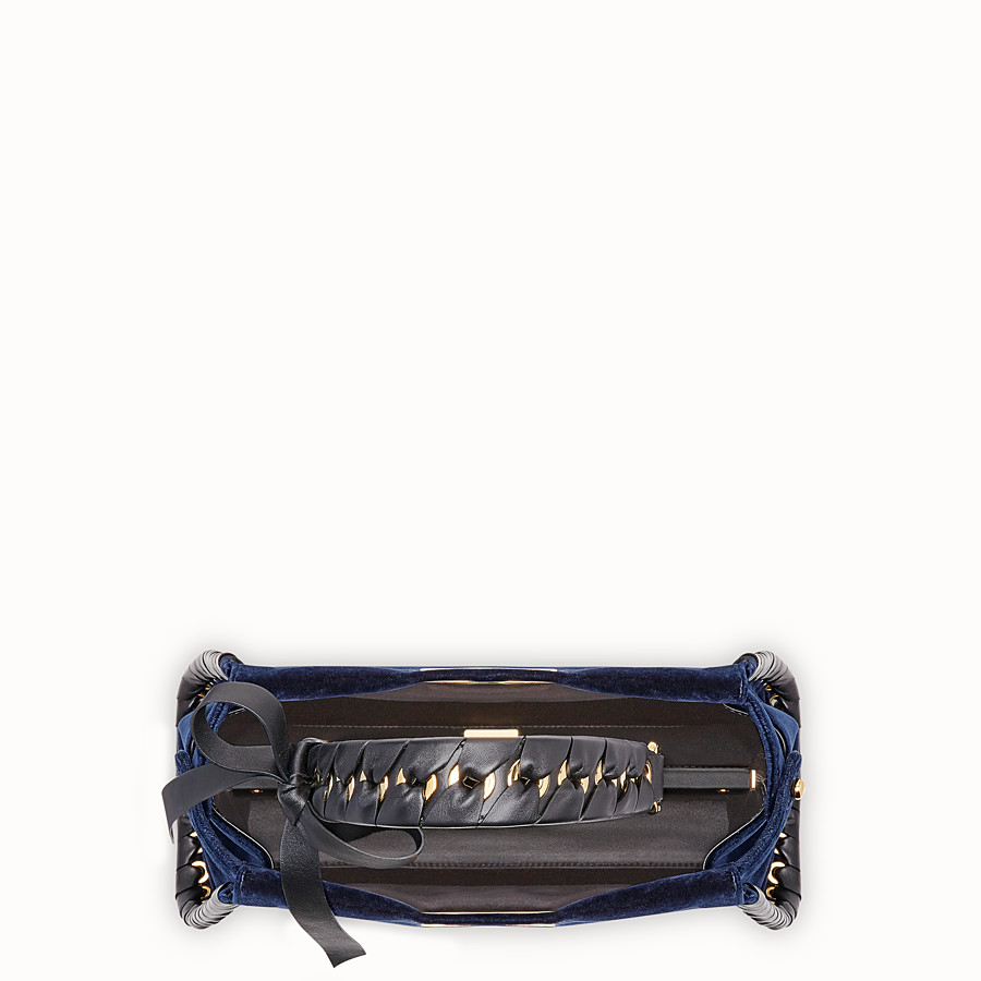 FENDI PEEKABOO REGULAR - Blue velvet bag - view 4 detail
