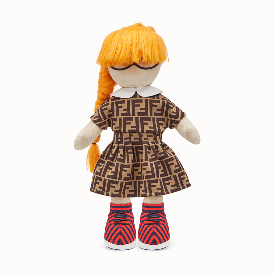FENDI NUMBERED COLLECTABLE DOLL - Collectable doll in goatskin and jacquard cotton - view 1 detail