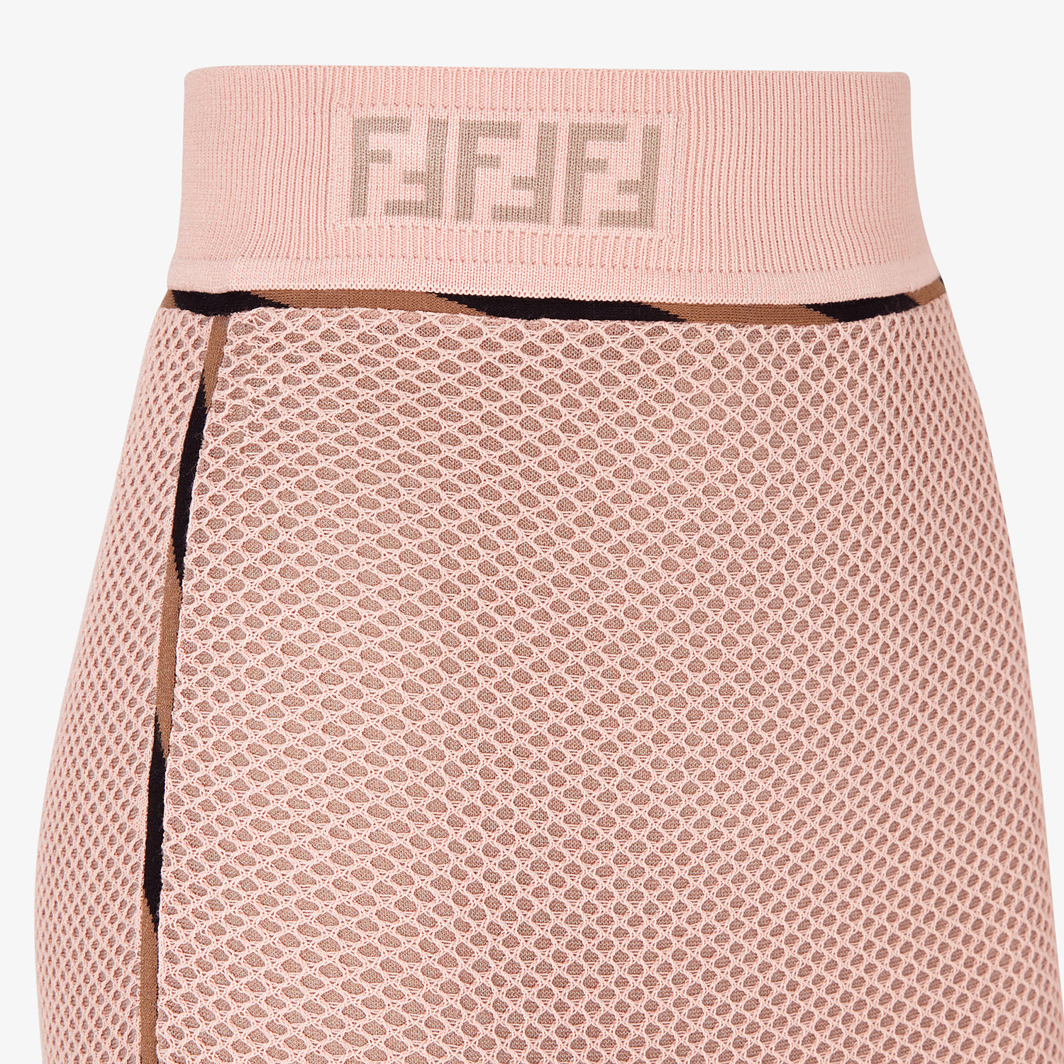 FENDI SKIRT - Pink mesh skirt - view 3 detail