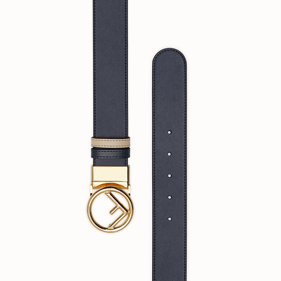 FENDI BELT - Navy blue leather belt - view 2 detail