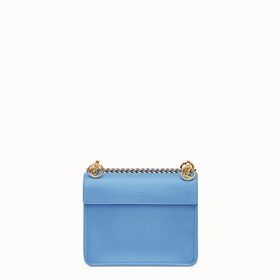 FENDI KAN I F SMALL - Light blue leather mini-bag - view 3 detail