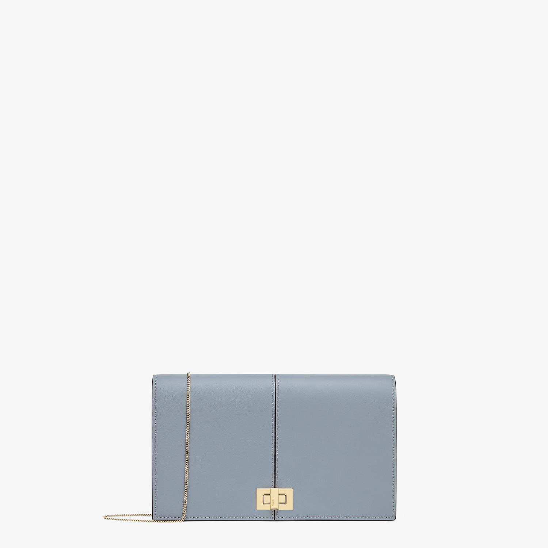 FENDI WALLET ON CHAIN - Minibag in pelle azzurra - vista 1 dettaglio
