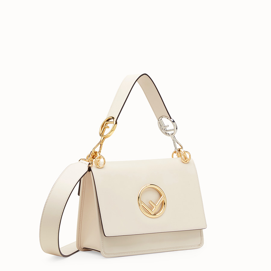 FENDI KAN I F - White leather bag - view 2 detail