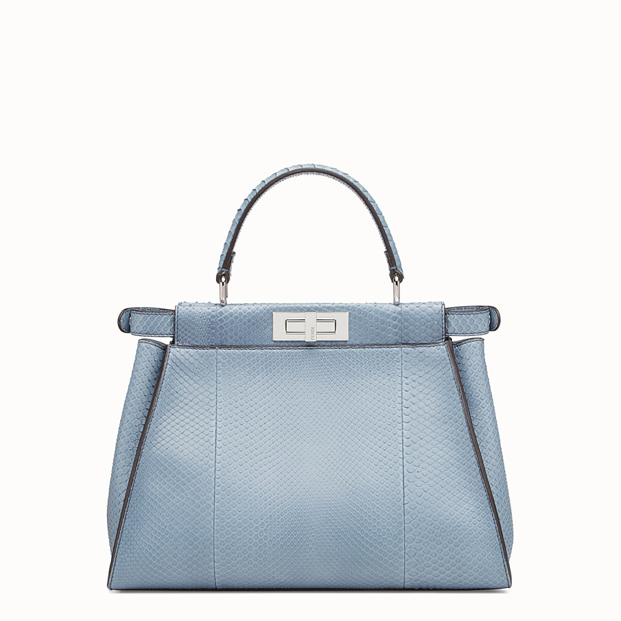 FENDI PEEKABOO REGULAR - Light blue python bag - view 3 detail