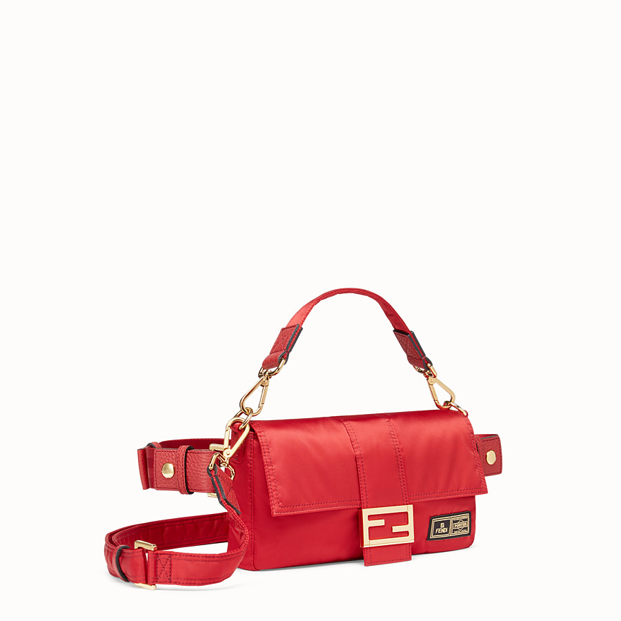 FENDI BAGUETTE FENDI AND PORTER - Red nylon bag - view 2 detail