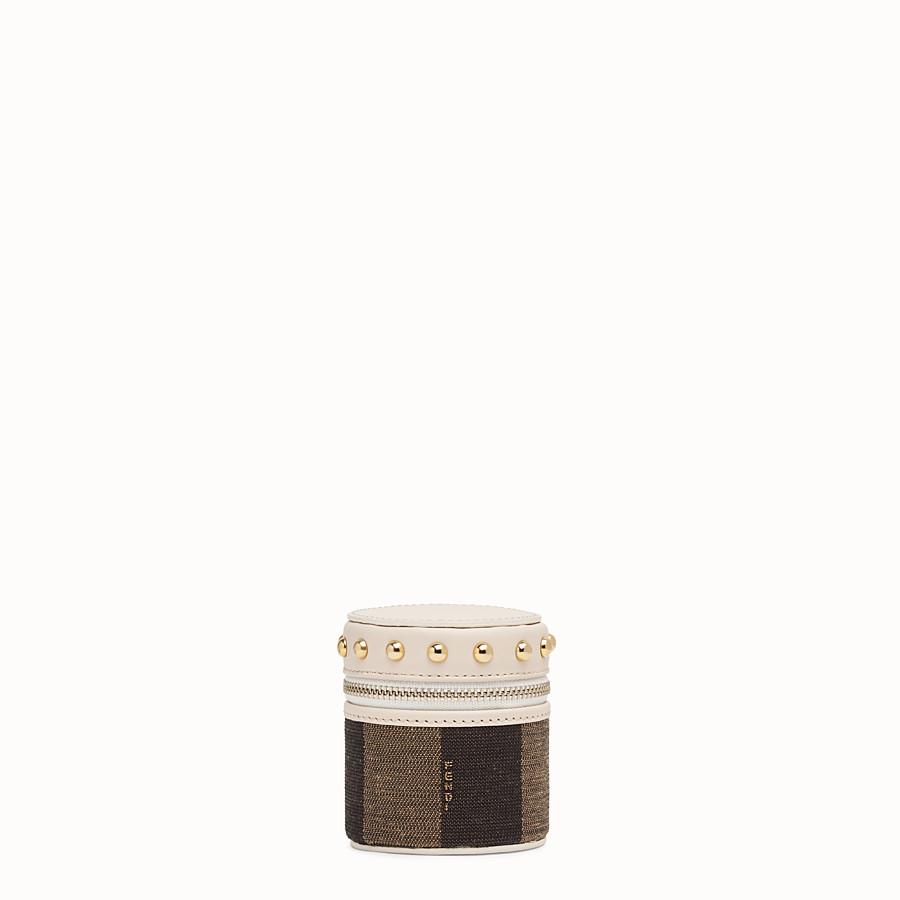 FENDI MINI SLIPCASE - Brown jacquard box - view 1 detail