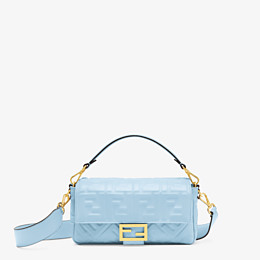 FENDI BAGUETTE - Light blue nappa leather bag - view 1 thumbnail