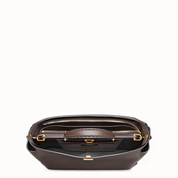 FENDI PEEKABOO ICONIC ESSENTIAL - Brown leather bag - view 4 thumbnail
