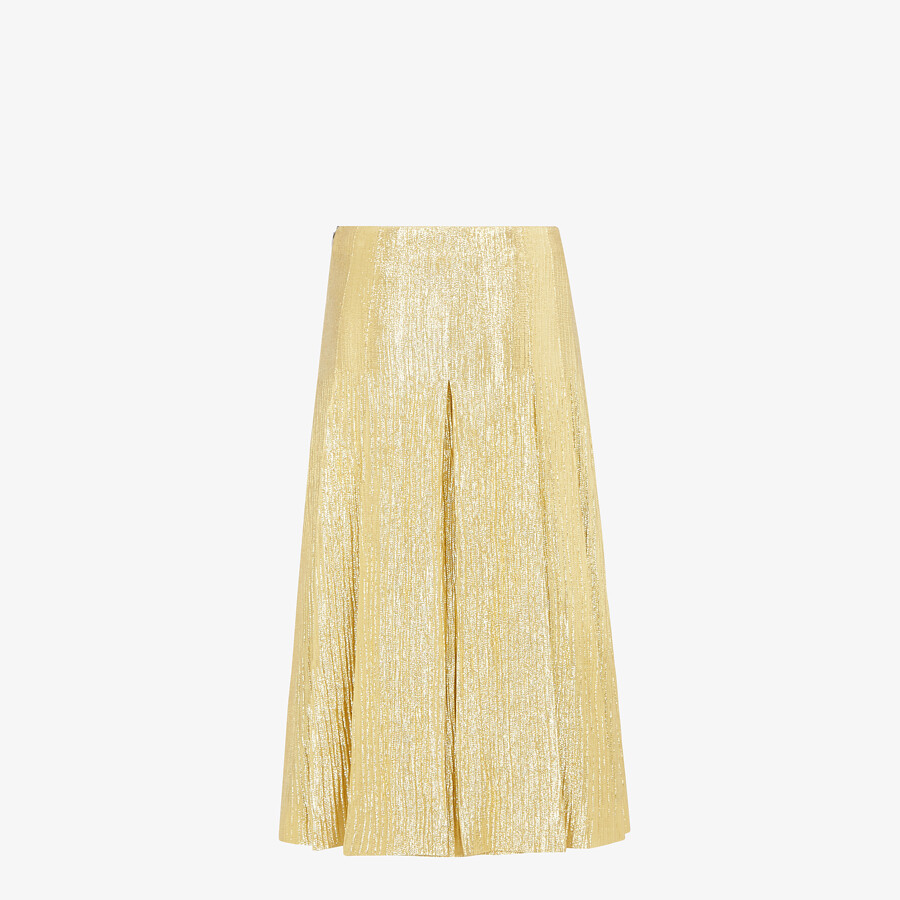 FENDI SKIRT - Gold Lurex skirt - view 2 detail