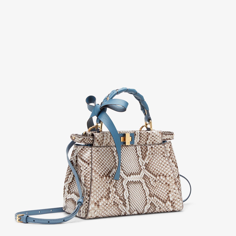 FENDI PEEKABOO ICONIC MINI - Gray python bag - view 3 detail