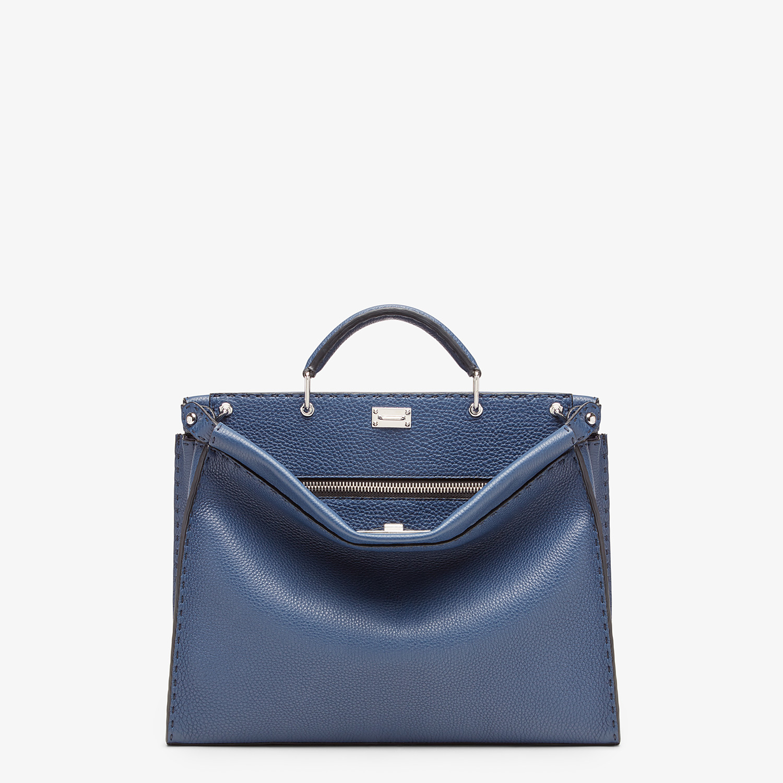FENDI PEEKABOO ICONIC FIT - Blue leather bag - view 1 detail