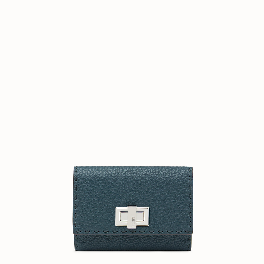 FENDI CONTINENTAL MEDIUM - Selleria medium blue continental wallet - view 1 detail