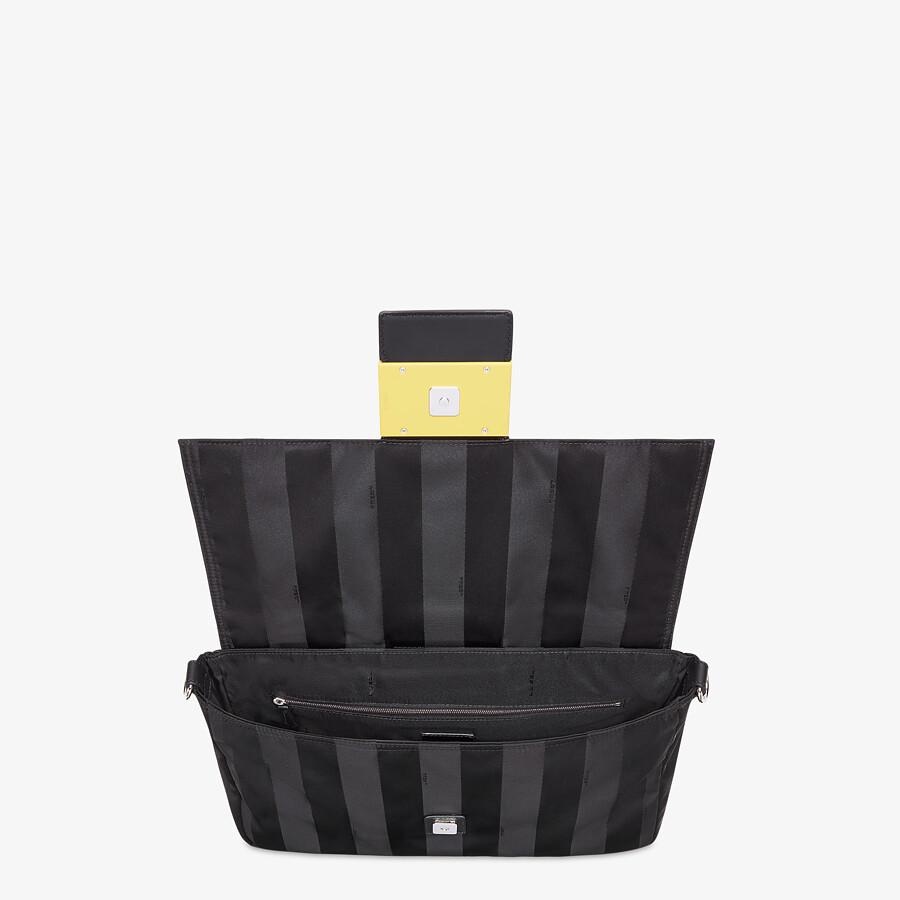 FENDI BAGUETTE LARGE - Black nylon bag - view 6 detail