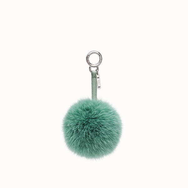 FENDI POMPOM CHARM - seafoam green fur - view 1 small thumbnail