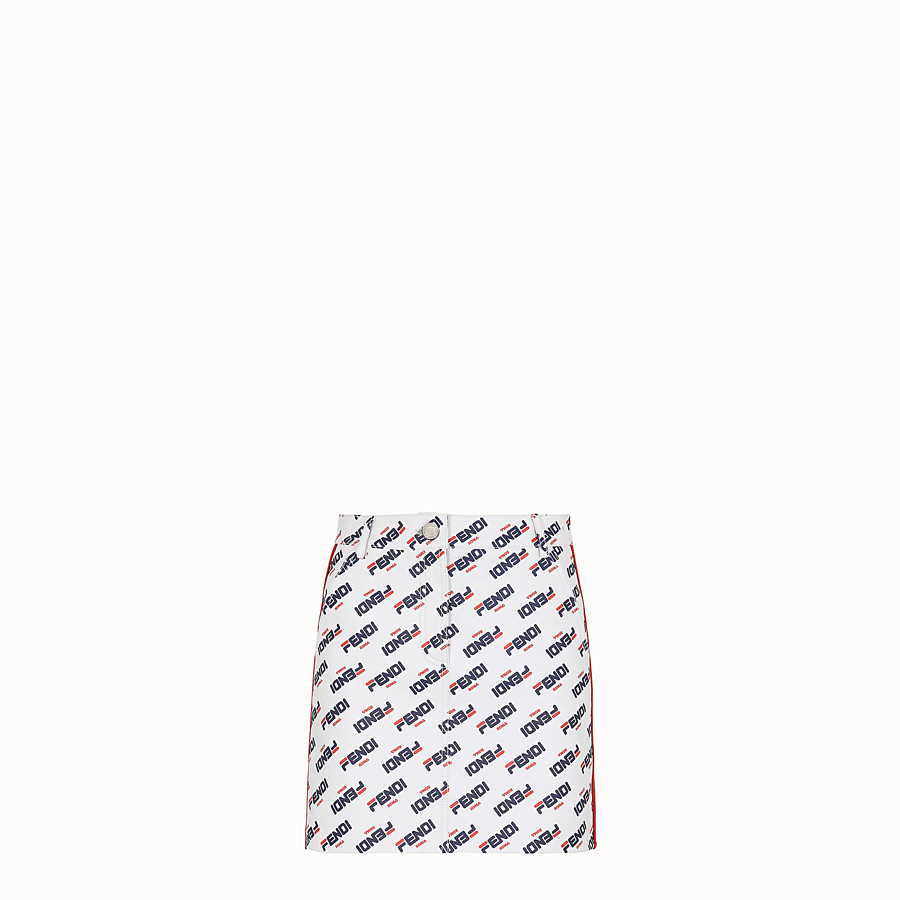 FENDI SKIRT - White leather mini skirt - view 1 detail