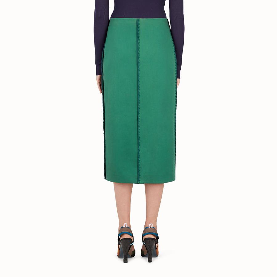 FENDI SKIRT - Green cotton skirt - view 2 detail