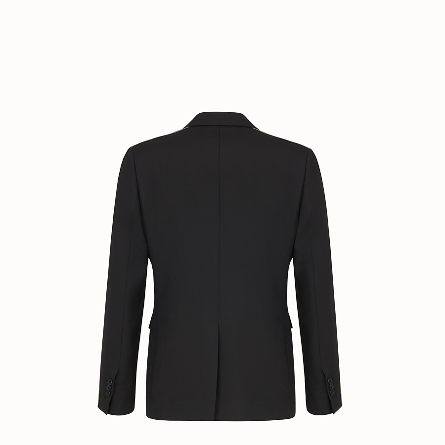 FENDI JACKET - Black wool blazer - view 2 detail