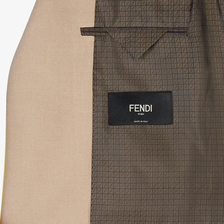 FENDI JACKET - Beige wool blazer - view 5 detail