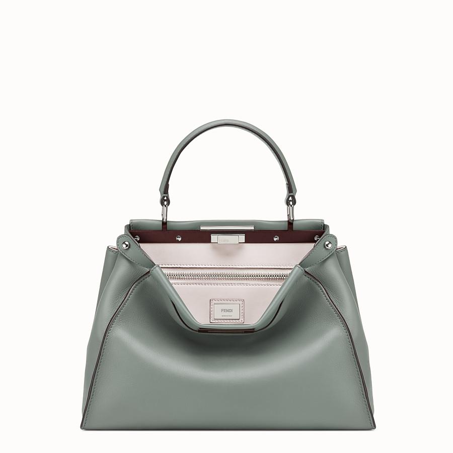 FENDI PEEKABOO REGULAR - Green leather bag - view 1 detail