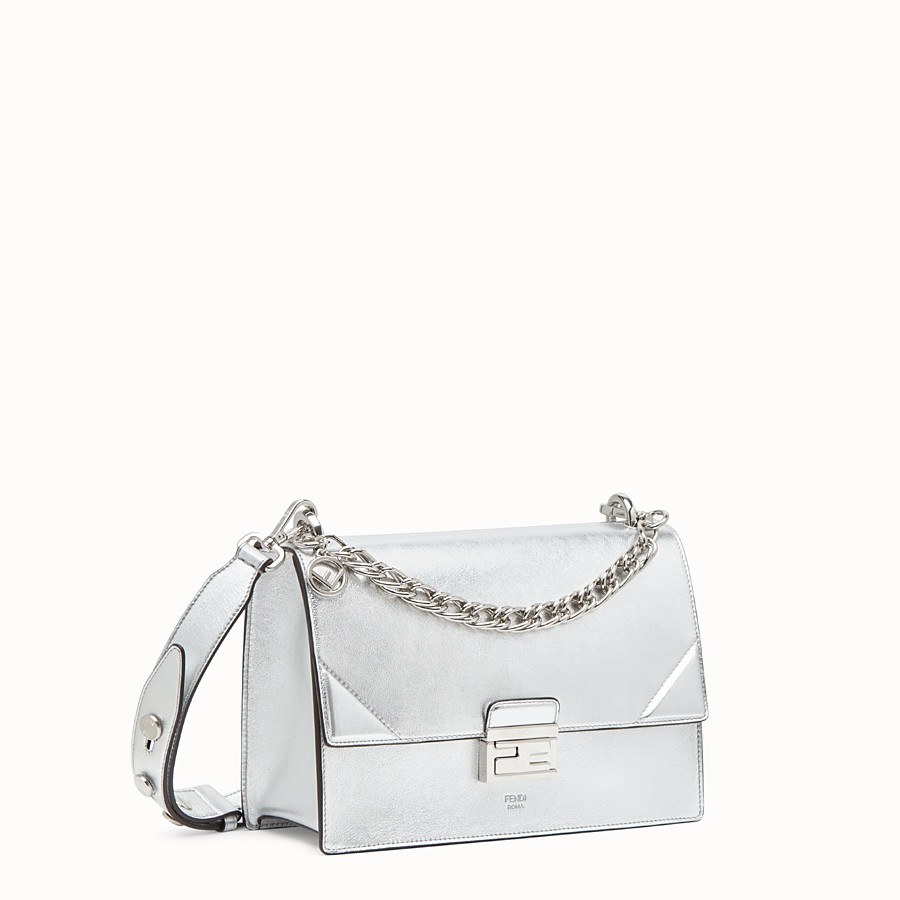 FENDI KAN U - Silver leather bag - view 3 detail